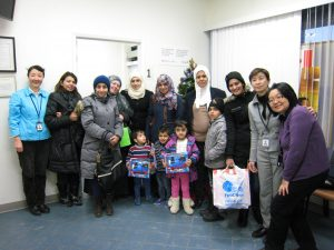 TCCSA Scarborough Centre staff and Syrian refugees